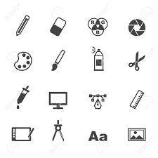 design icons graphic design icons mono vector symbols royalty free cliparts