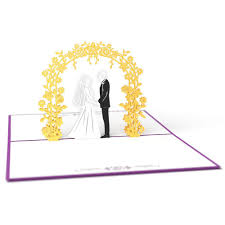 card for on wedding day wedding day 3d pop up card lovepop