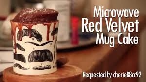 microwave red velvet mug cake youtube