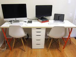 two person desk ikea office makeover part 2 diy ikea linnmon desk for two lito supply co