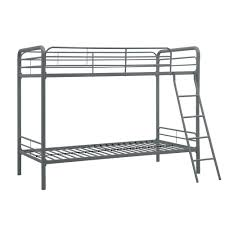 Iron Bunk Bed Dhp Elen Silver Metal Bunk Bed De13161 The Home Depot