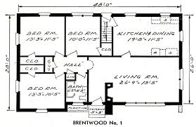 Fox And Jacobs Floor Plans Aladdin In 1952 Sears Modern Homes