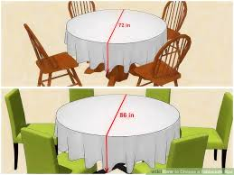 5ft round table in inches 3 ways to choose a tablecloth size wikihow
