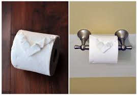 the cheese thief toilet paper origami heart