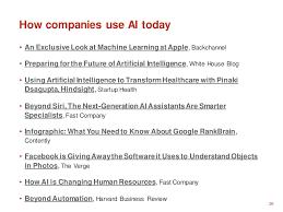 26 how companies use ai