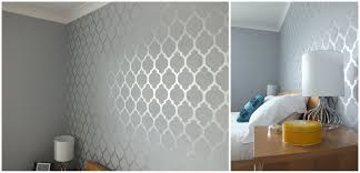 Bedroom Wall Stencil Bedroom Wall Units Diy Wall Stencil Tutorial Template Life In Eight