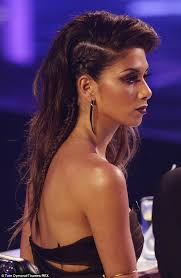 picture of nicole s hairstyle from days of our lives nicole scherzinger is devilish in black cutaway gown on the x