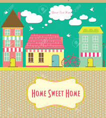 sweet house home sweet home card vector illustration royalty free cliparts