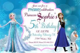 frozen birthday card frozen birthday invitation printable frozen