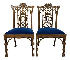 chinese chippendale chairs chinese chippendale style pagoda chairs a pair chairish