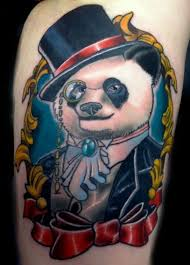 51 cute panda shoulder tattoos design