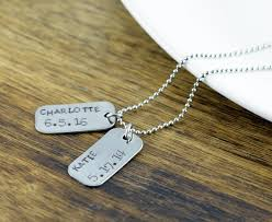 Personalized Mens Necklaces Personalized Mens Necklace Gifts For Him Mens Jewelry New Dad