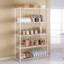 Kitchen Sheved | metal kitchen shelves intermetro kitchen shelves the container store