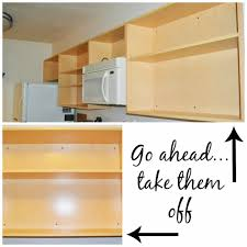 remove kitchen cabinet doors for open shelving kitchen improvement removing cabinet doors