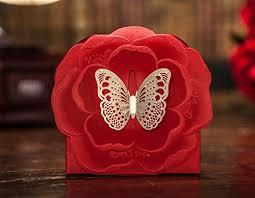 100 pcs premium wedding design golden butterfly landing on