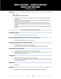 Hr Director Resume Examples by Non Profit Board Of Directors Resume Sample Free Resume Example