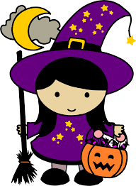 clipart cute halloween witch colored