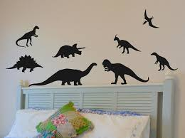 dinosaur wall decals set of 8 great wall decor by vgwalldecals