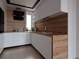 cuisine blanc laqué plan travail bois plan de travail cuisine blanc brillant conception laque bois