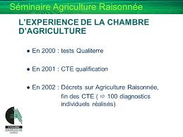 chambre agriculture 33 de l agriculture raisonnee a l agriculture durable ppt