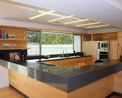 awesome modern kitchen design with hardwood kitchen cabinet set