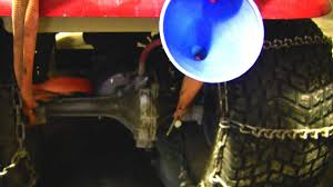 hydrostatic transmission drain plug install fluid change youtube
