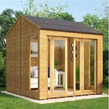 Gardens With Summer Houses - cannes wooden summerhouse sunroom with french doors summer