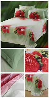 top selling factory wholesale 3d strawberry print bed sheets new