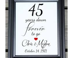 45 year anniversary gift 45 years of marriage etsy