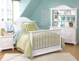 Convertible White Cribs by Bristol White Crib Converted To Full Bed W Nightstand Double
