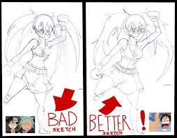 bad sketch v s good sketch by alexander lr on deviantart