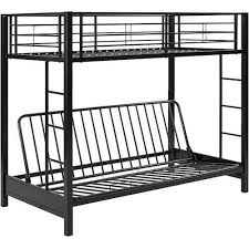 Black Futon Bunk Bed Walker Edison Futon Bunk Bed Black Bbtofbl Best Buy