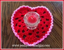 heart doily posh pooch designs dog clothes heart doily crochet pattern posh