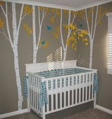 Tree Wall Decals For Living Room Birch Tree Wall Decal With Flying Birds Birch Forest Birch Trees