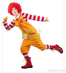 Mens Football Halloween Costumes Wholesale Ohcos Pieces Ronald Mcdonald Uncle Show Performance