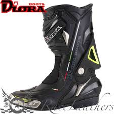 sport bike motorcycle boots diora hornet black fluo waterproof motorcycle motorbike sports