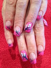shellac nails nail design one stroke nail designs snowman