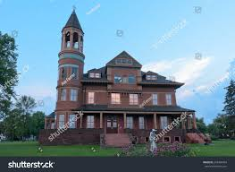 queen anne victorian historic queen anne style victorian mansion stock photo 218489764
