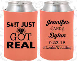 wedding koozie ideas just got real wedding favors unique wedding favors just got