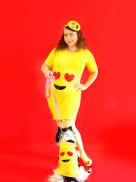 Emoticon Costume Halloween Diy Emoji Costume Ladies U0026 Fur Babies Emoji Costume