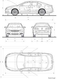 volkswagen drawing volkswagen passat cc blueprint download free blueprint for 3d
