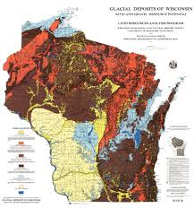 University Of Wisconsin Madison Map by Wisconsin Geological U0026 Natural History Survey Glacial Deposits