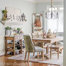 Home Decor Dining Table Bless It Decorating The Dining Room For Fall Unskinny Boppy