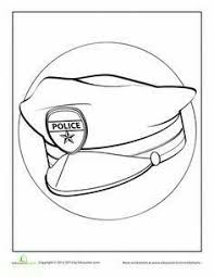 mailman hat coloring page kindergarten printable hat templates coloring pages police