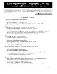 good authors to write research paper on craap test basics can i use a website libguides at valdosta craap test