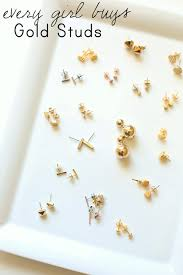 second earrings every girl buys gold stud earrings everyday reading