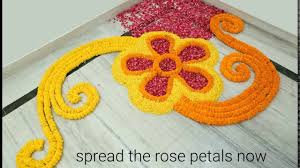 home decor flower home decor ideas how to make rangoli with flowers youtube