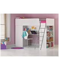 buy bailey high sleeper single bed frame white at argos co uk