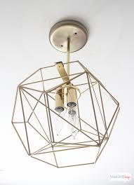 Globe Ceiling Light Diy Geometric Globe Pendant Light Atta Girl Says