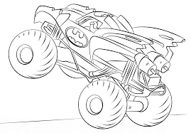 simple batman monster truck coloring free coloring pages